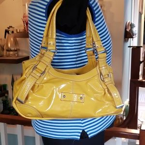 9 west Patent Leather Yellow bag